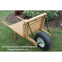 Brick-Firewood Flat Wood Slat Industrial USA Wheelbarrow