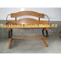 Oak Buck Board Bench Metal Parts Kit