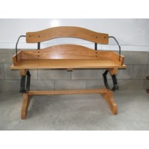 Oak Buckboard Bench