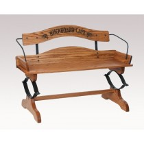 Oak Buck Board Seat Bench