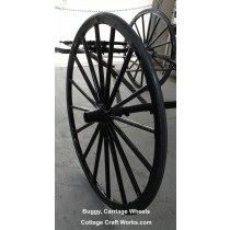 Amish Wagon Wheel With Rubber Tire