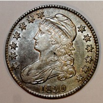 1830 Bust Capped Half Dollar Silver Coin
