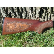 Elk Gun Stock Carving