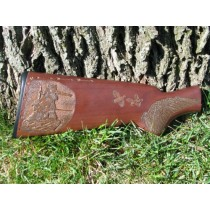 Indian Hunter Gun Stock Carving