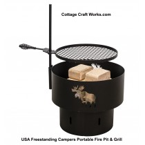 Freestanding Campers Portable Fire Pit & Grill