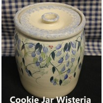 USA Stoneware | Cookie Jar Wisteria