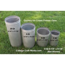 Country Ice Cream Freezer Replacement Cans