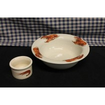 USA Stoneware | Crawfish | Shrimp | Crab | Bowl Set