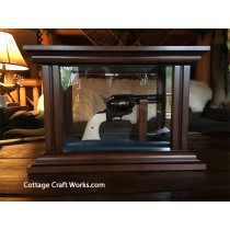Custom Wood & Glass Gun Display Case