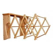 Small Oak Wall Folding Clothes Rack