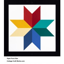 Barn Quilt Eight Point Star