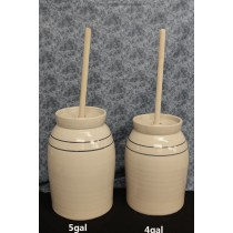 USA | Stoneware Butter Churn | 4-5 Gallon