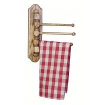 Solid Oak Folding Tea Towel Rack