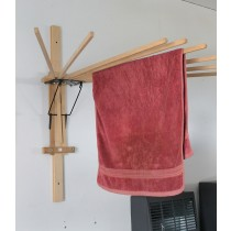 Folding Umbrella Wall Clothes Drying Rack | Amish Made USA