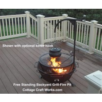 Free Standing Fire Pit & Grill