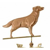 Golden Retriever Copper Weathervane