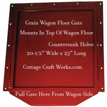 Gravity Grain Wagon Floor Slide Gate