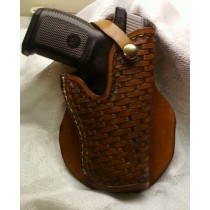 Leather Paddle Holster for 45 Cal Auto | Leather Holsters