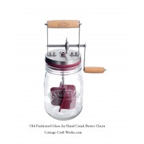 Hand Crank Glass Jar Butter Chrun
