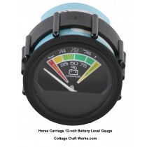 Horse Carriage 12-volt Battery Level Gauge