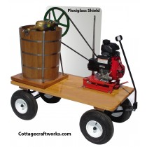 Country 20-qt Wagon Mounted Gas Engine Ice Cream Freezer