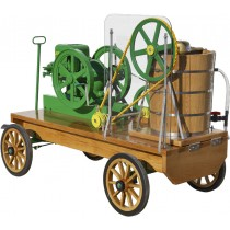Wagon Mounted Hit n Miss Single Tub Ice Cream Freezers