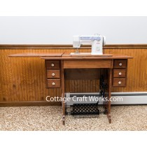 Solid Wood Treadle Sewing Cabinet