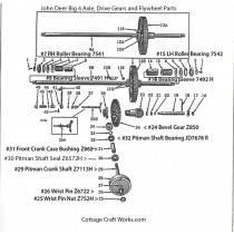 John Deer Big 4 Mower Axle Drive, Flywheel Part Diagram