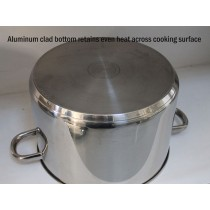 Heavy Stainless Steel Stock Pot 16qt Bottom