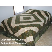 Log Cabin Amish Quilt