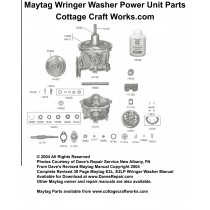 Maytag Wringer Washer Power Unit Parts
