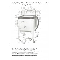 Maytag Wringer Washer Tub-Frame Outside Replacement Parts