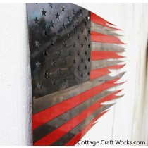 American Metal Flag Wall and Garden Art