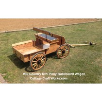 Mini Pony Buckboard Farm Wagon