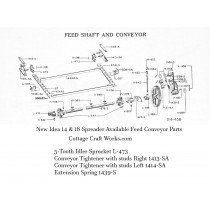 New Idea 14 & 18 Spreader Feed Shaft & Conveyor Parts