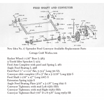 New Idea No. 17 Spreader Feed Shaft & Conveyor Parts