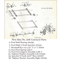 New Idea 206 Spreader Feed Shaft & Conveyor Parts