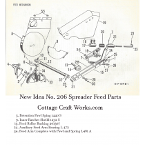 New Idea 206 Ground Drive Spreader Feed Mechanism Parts