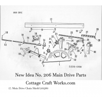 New Idea 206 Spreader Main Drive Parts
