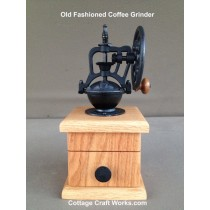 Handcrafted Oak Coffee Grinder Mill