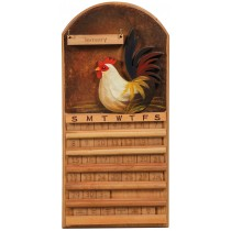 Perpetual Calendar Rooster Theme