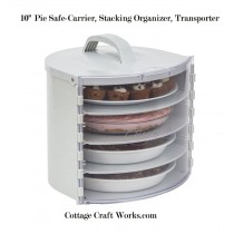 "10"" Pie Safe-Carrier, Stacking Organizer, Transporter"