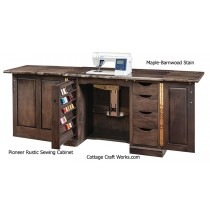 Rustic Pioneer Amish Sewing Machine Cabinet