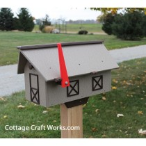 Single Poly Wood Mailbox