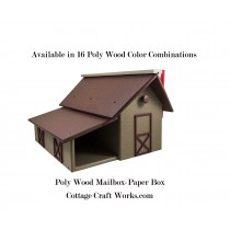 Poly Wood Barn Mailbox & Newspaper Shed