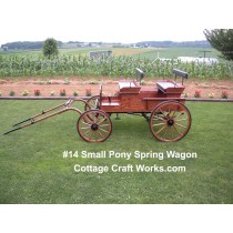 Pony Size Spring Wagon 29-50 Inch Mini Ponies-Teams