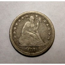 1876-CC SEATED LIBERTY QUARTER Silver Coin