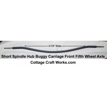 Short Spindle Buggy-Carriage Front Fifth Wheel Axle