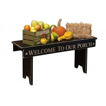 Country Home Decor | 36 Inch Inspirational Engraved Bench