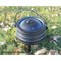 Potjie Pot #1 Three Leg Cast Iron Kettle-3/4 gal